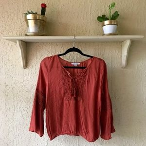 American Eagle Outfitters Tops - AMERICAN EAGLE OUTFITTERS Burnt Orange Blouse